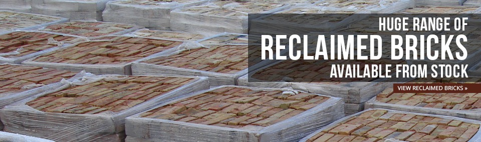 Huge range of reclaimed bricks available from stock